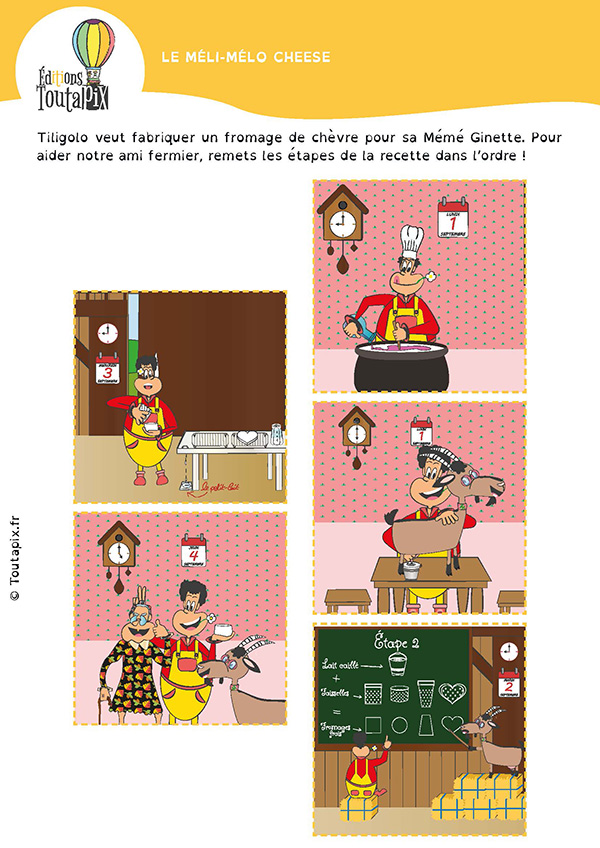 Fiche pedagogique maternelle fromage